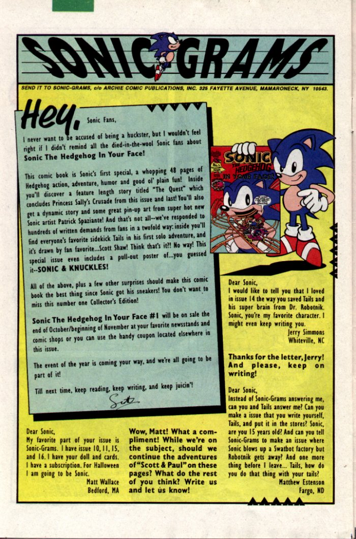 Read online Sonic The Hedgehog comic -  Issue #18 - 24
