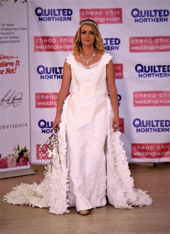 Kari Curletto Toilet Paper Wedding Gown