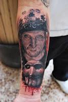 tatuaje para halloween el juego del miedo