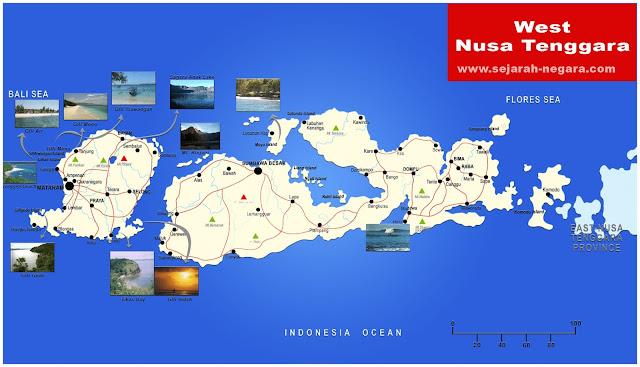image: West Nusa Tenggara Map High Resolution