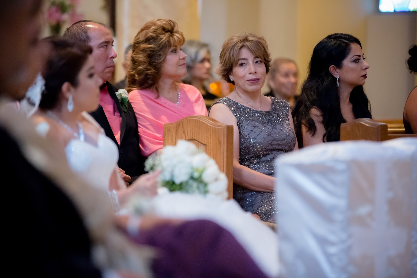 Mother of Bride looks at Bride with Love and Pride