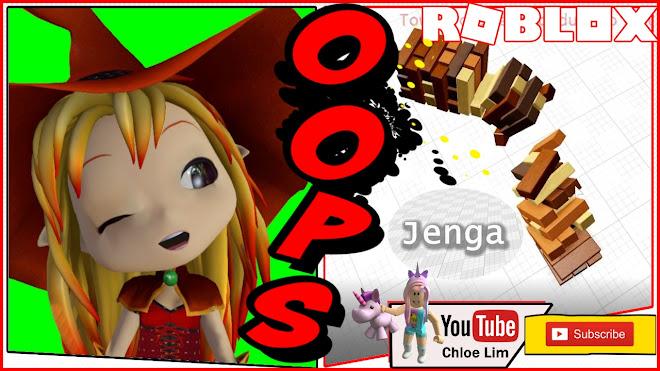 Roblox Jenga Gameplay! JENGA JENGA! Looks easy but pretty tricky!
