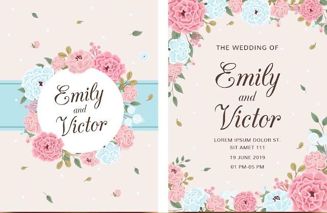5 Contoh Desain Undangan Pernikahan Unik dan Minimalis ...