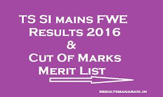 si Mains result 2016 cut of marks