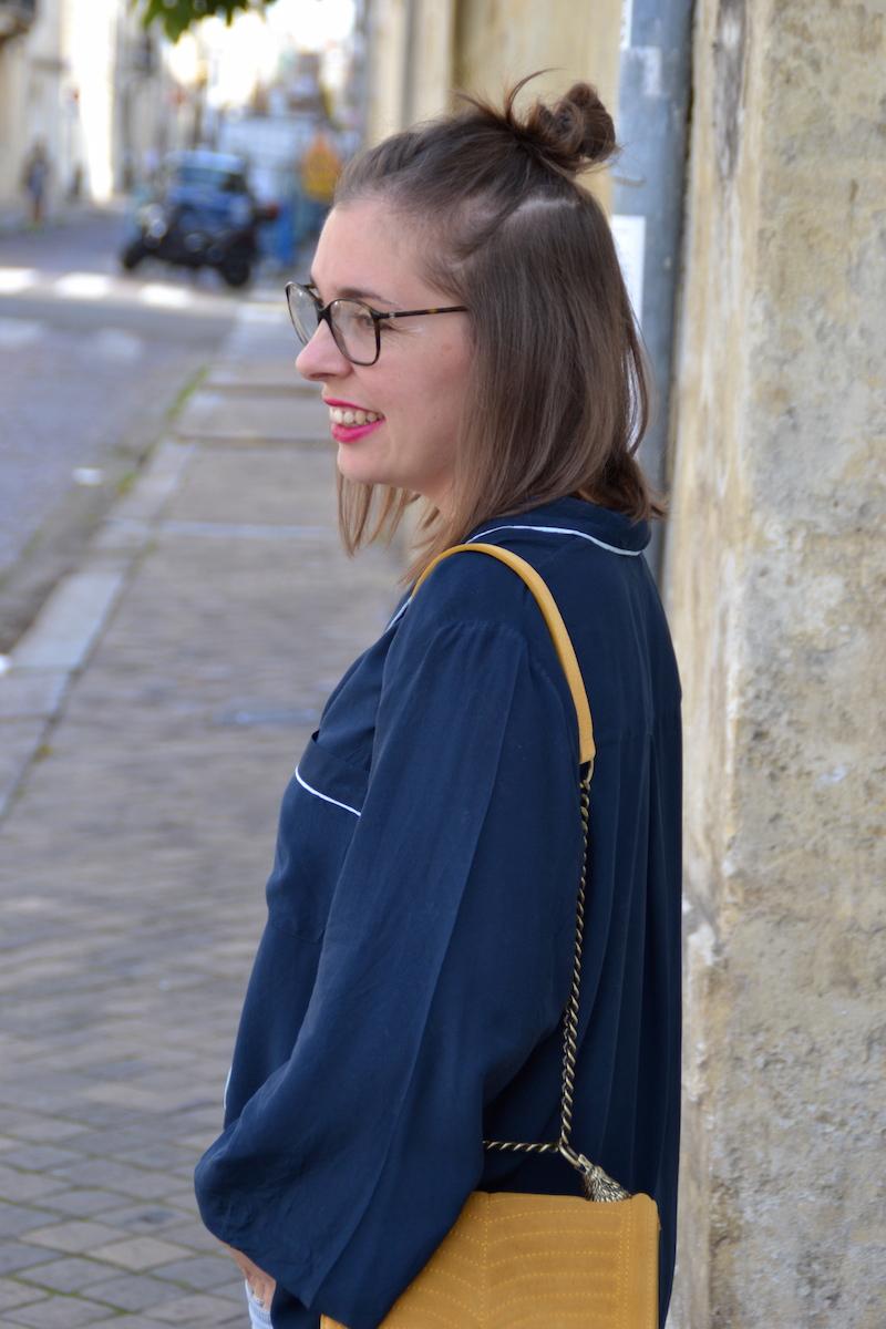 chemisier pyjama bleu marine H&M