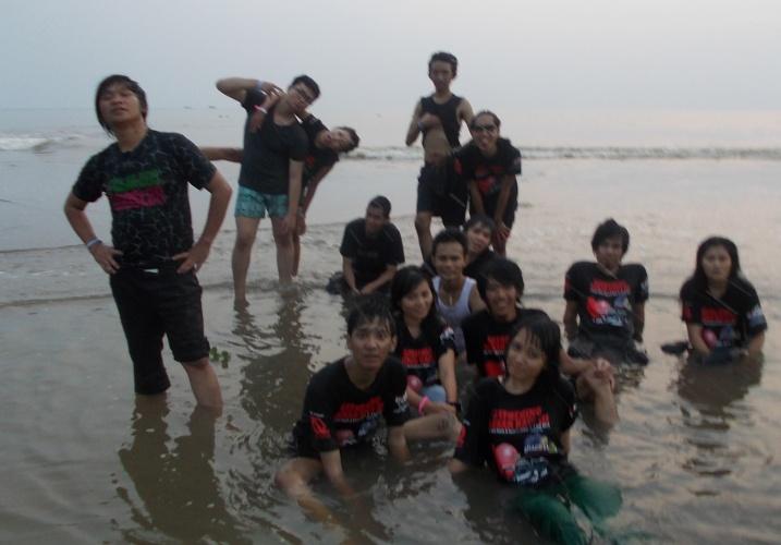 Foto CDP Team KACI di Pantai