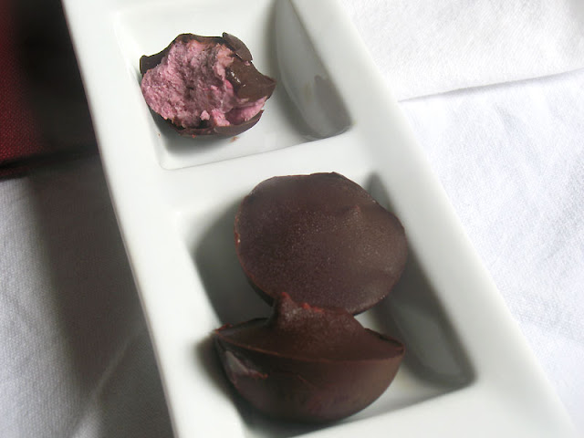 Creamy Raspberry Chocolates