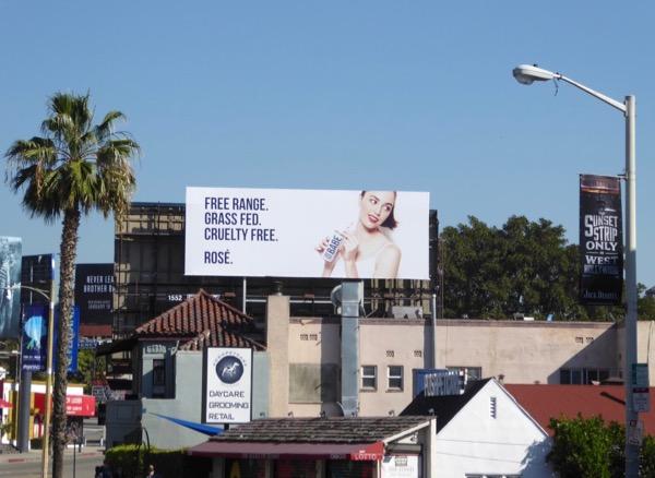 Free range Babe Rosé billboard