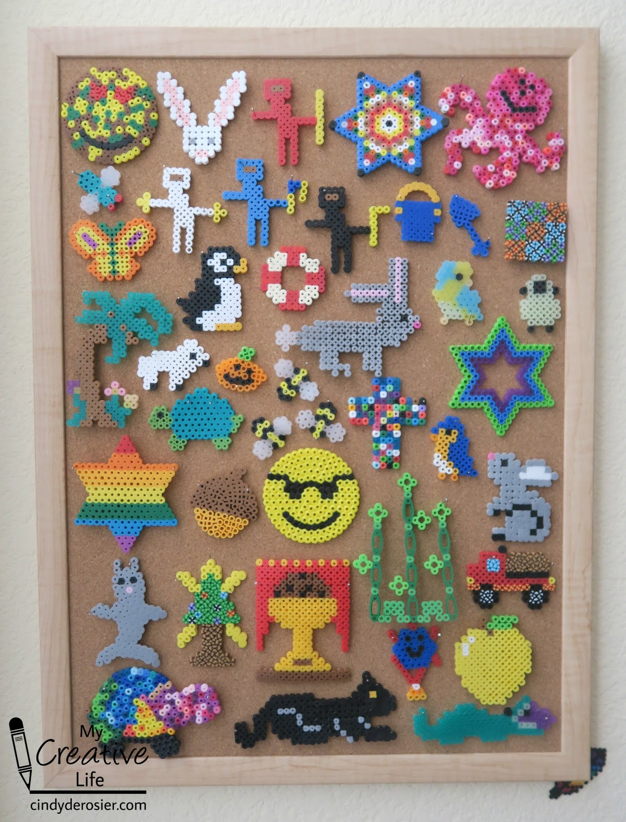 Cindy deRosier: My Creative Life: Displaying Perler Bead