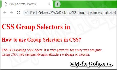 CSS group selector