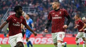 ميلان يحقق فوز قاتل على أودينيزي في اخر الدقائق من الدوري الايطالي