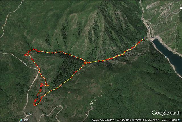 Wheeler Creek, Icebox Canyon trail map