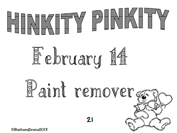 It's About Time, Teachers!: Valentine's Day Hink Pink FREEBIE
