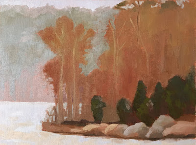 landscape study based on Painting the Poetic Landscape Composition lesson - first phase