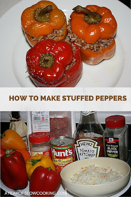 I love this recipe because it shows the basics on how to make stuffed peppers in the crockpot. Once you get a knack for it, you can customize it however fits your family's taste buds!