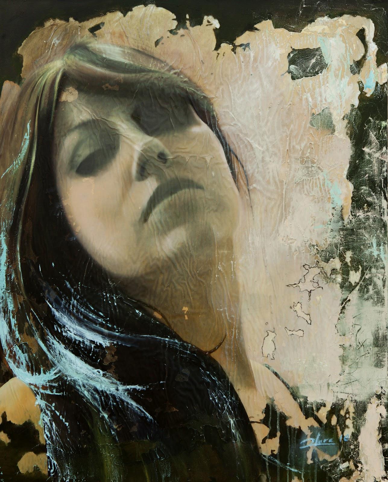 María. Técnica mixta al óleo sobre lienzo. 100cm x 80cm