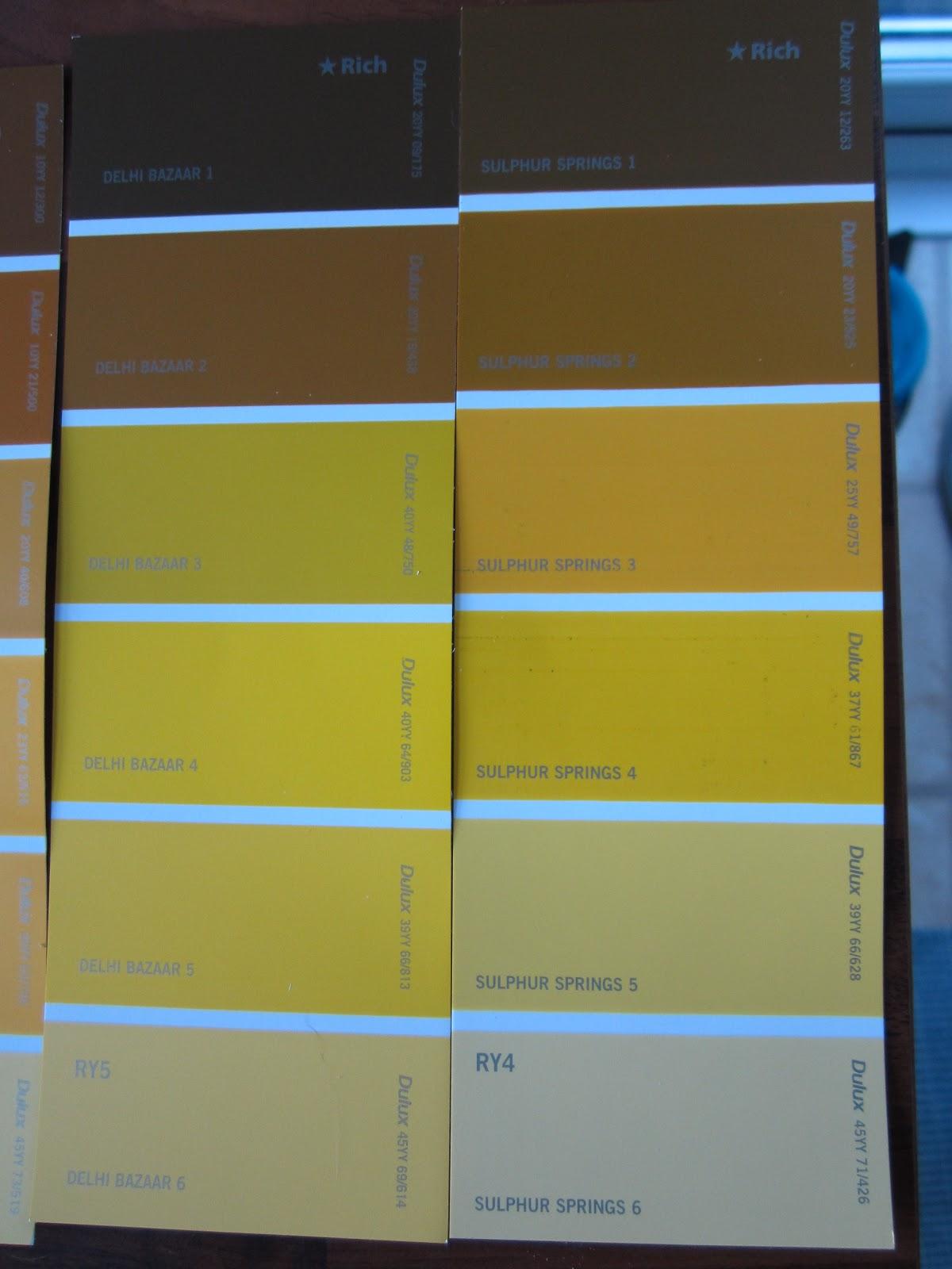Dulux Paint Colour Chart Bathroom