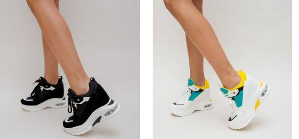 Adidasi dama ieftini de primavara moderni negri, albi colorati