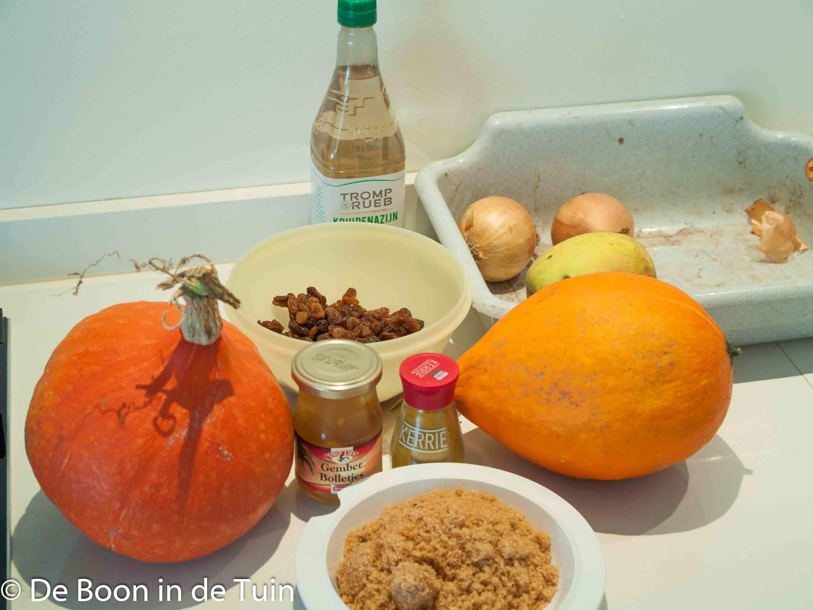 pompoenchutney recept herfst ingrediënten