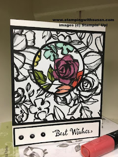 Stampin' Up Petal Palette  Stamp Set Best Wishes Stampin' Blends