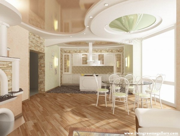 25 false ceiling designs for kitchen bedroom and dining room living rooms gallery - Unique false ceiling designs ...