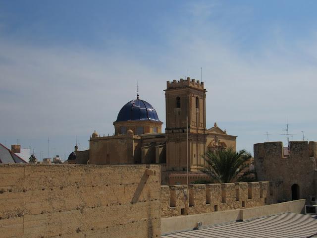Vistas desde el palacio de Altamira en Elche