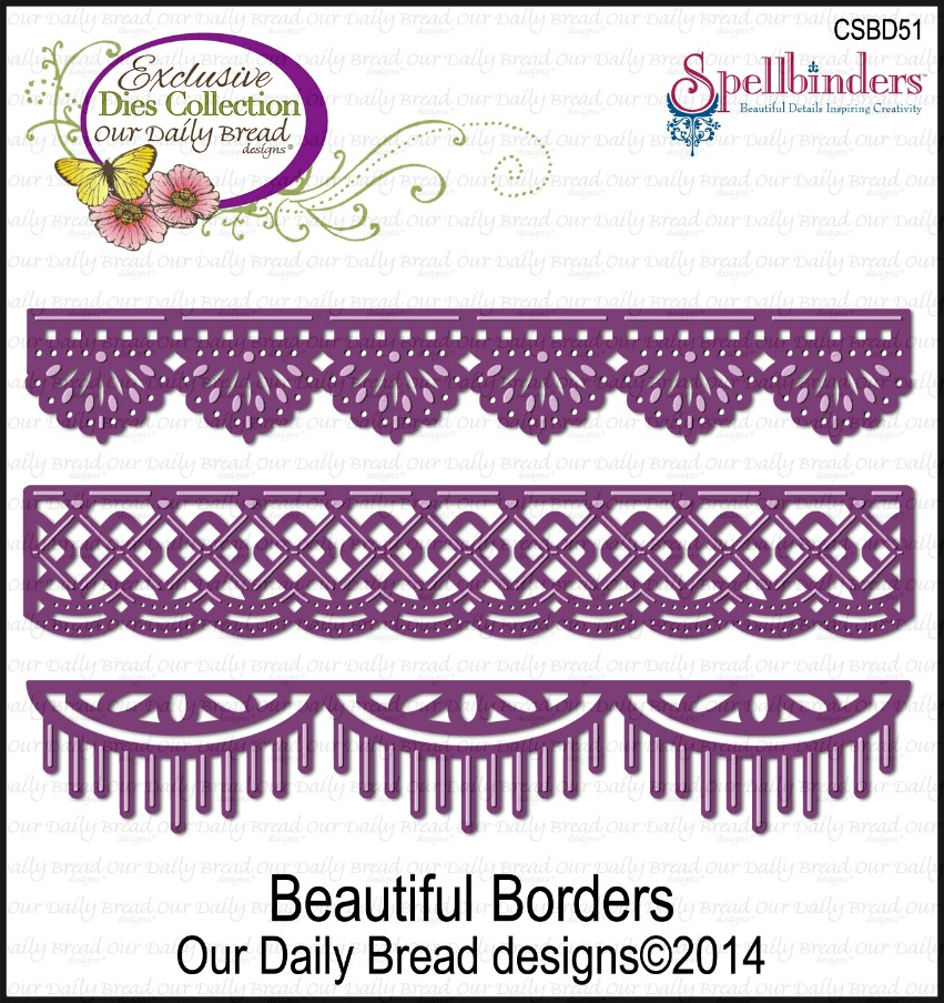 Stamps - Our Daily Bread Designs Custom Beautiful Borders Dies