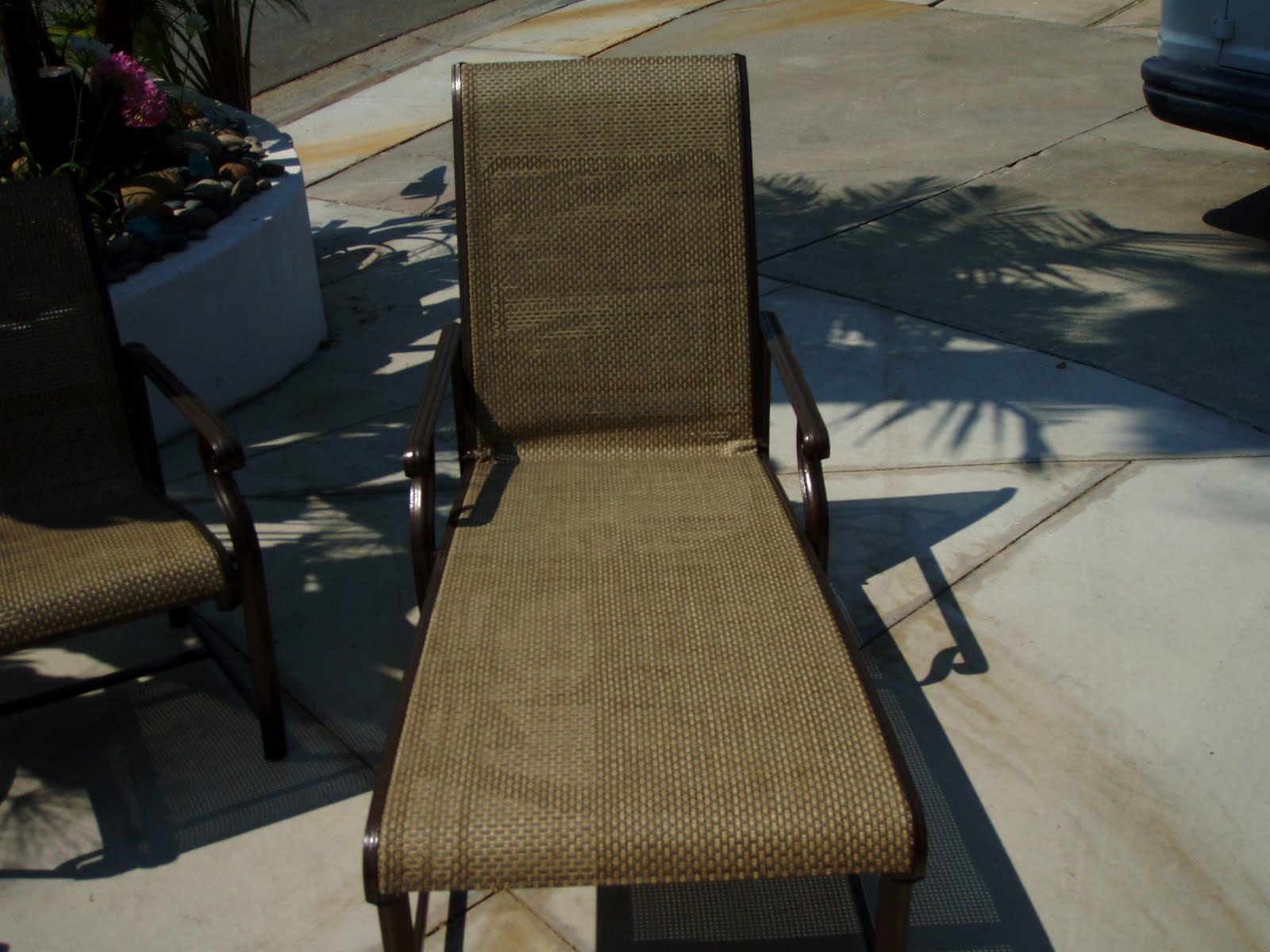 vinyl mesh fabric for sling chairs black upholstered dining 949 830 2600 orange county outdoor patio furniture repair