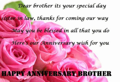marriage anniversary wishes brother