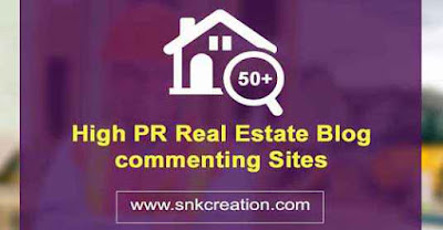 High PR Real Estate Blog commenting Sites List India