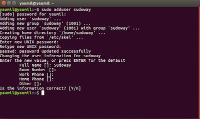Cara Menambah dan Menghapus Uset di Ubuntu