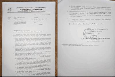 Rekomendasi Gubernur NTB tentang Perubahan NIlai Passing Grade Seleksi CPNS Tahun 2018