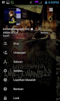 BBM MOD v3.0.1.25 Need for Speed APK Keren