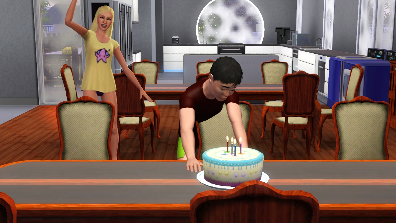 How To Put Birthday Candles On Cake Sims
