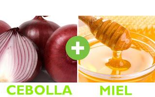 Resultados naturales con miel y cebolla