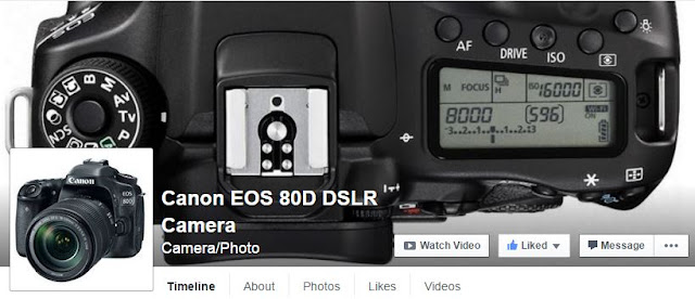 Visit / Like the new Canon EOS 80D DSLR Camera Facebook Page
