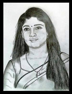 ORIGINAL DRAWING FOR SALE - Film actress Nayantara