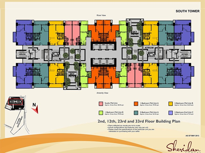 Sheridan Towers Garden Atrium Typical Floor Plan