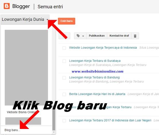 Cara Membuat Blog Baru dengan Akun Blog yang Sama