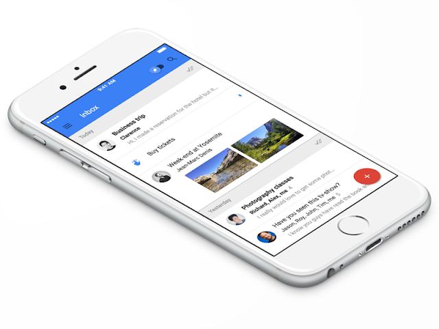 Usuários do Gmail no iOS - se você não tiver baixado ainda é provável que uma nova versão do Gmail esteja esperando na fila