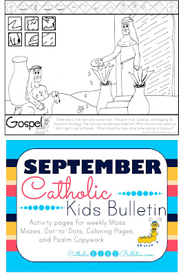 Luke 16:19-31 Lazarus the Beggar Coloring Page Catholic Kids Bulletin