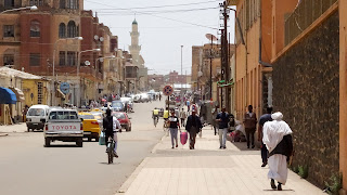 Young people in Asmara have to join the military a few days per week