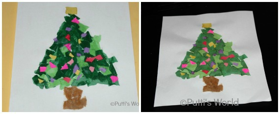 Toddler Christmas Tree Kids Craft