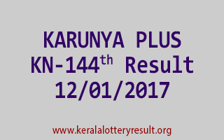 KARUNYA PLUS KN 144 Lottery Results 12-01-2017