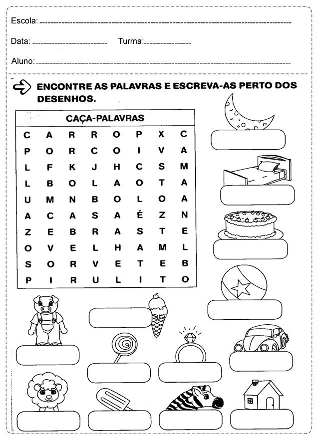Fabuloso Atividades de Português 2° ano Ensino Fundamental — SÓ ESCOLA RN32