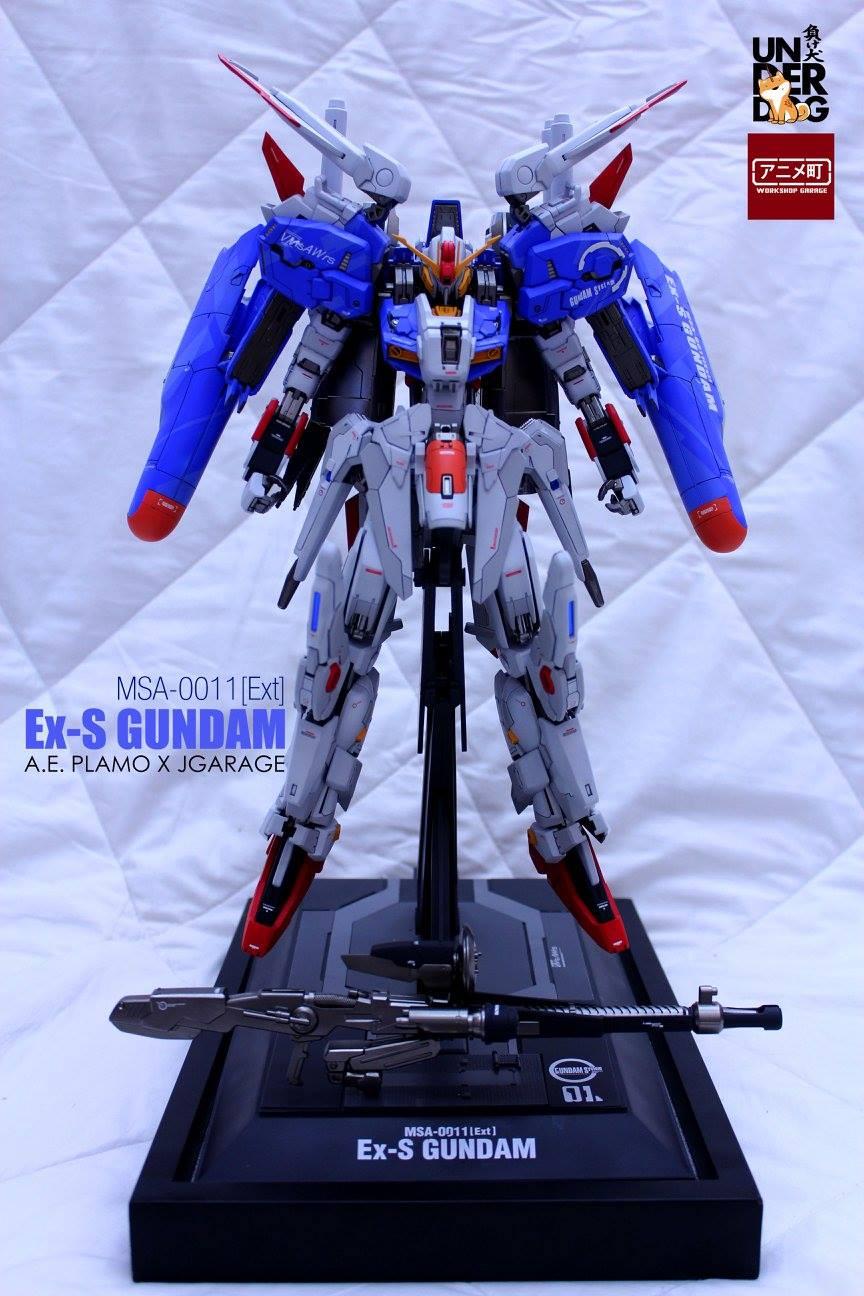Custom Build: MG 1/100 Ex-S Gundam [Slim custom] Collaboration by A.E. Plamo and Jgarage