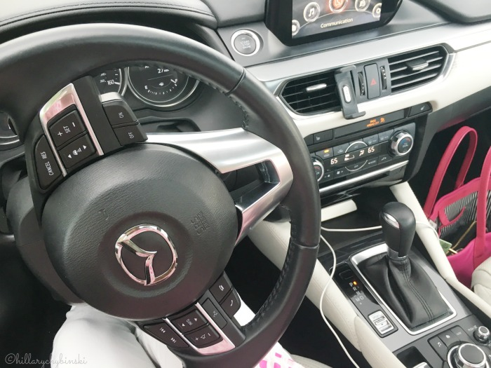 The Mazda 6 has an amazing array of safety features in their driver-friendly dashboard.