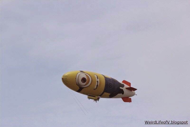 A Minion Blimp was spotted circling above the San Diego Convention Center during San Diego Comic Con 2013.