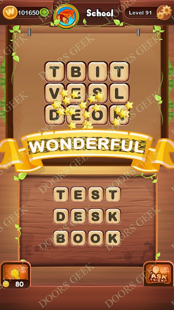 Word Bright Level 91 Answers, Cheats, Solutions, Walkthrough for android, iphone, ipad and ipod