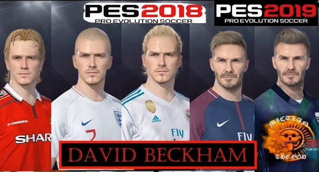 David Beckham Facepack - PES 2019 & PES 2018 - PATCH PES